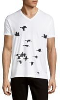 Kinetix Black Birds V-Neck Tee