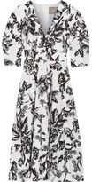 Lela Rose Floral-print Cotton Dress - Ivory