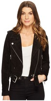 Blank NYC Black Suede Moto Jacket in Seal The Deal Women's Coat