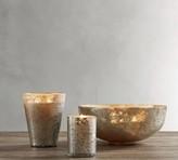 Pottery Barn Rough Cast Mercury Glass Scented Candles - Cardamom & Vanilla