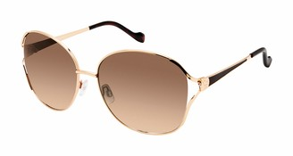 Jessica Simpson Women's J5847 Round Vented Metal Sunglasses with 100% UV Protection 61 mm
