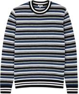 Kenzo Striped Fine-knit Wool Blend Jumper
