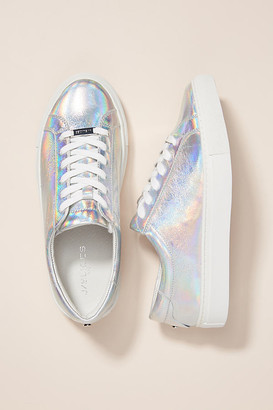 J/Slides Lacee Sneakers By in Silver Size 6