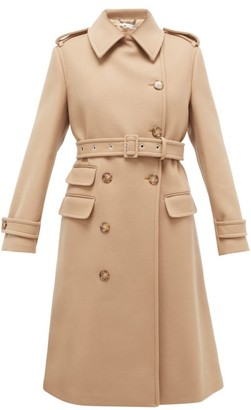 Stella McCartney Double-breasted Wool Coat - Womens - Camel