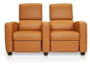 Bass Deco Penthouse Leather Home Theater Row Seating (Row of 2
