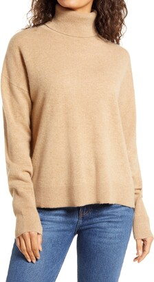 J.Crew Relaxed Fit Cashmere Turtleneck Sweater