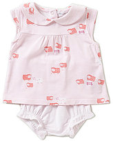Angel Dear Baby Girls 3-12 Months Counting Sheep Top & Bloomer Set