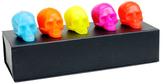 D.L. & Co. Brights Mini Skull Set (Set of 5)