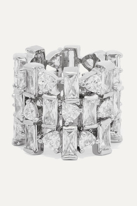 Kenneth Jay Lane Silver-tone Cubic Zirconia Ring