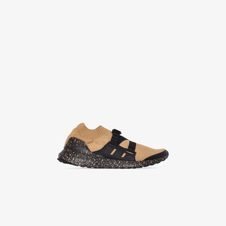 adidas X Hyke brown Ultraboost strap sneakers