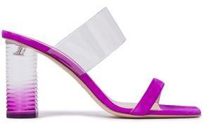 Nicholas Kirkwood Pvc-trimmed Suede Sandals