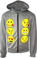 Ael Kids Emoji Emoticons Smiley Faces Long Sleeve Hoodies Tops Girls Age New 5-13 Y