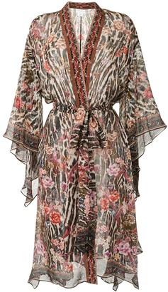 Camilla Tie-Waist Handkerchief Jacket