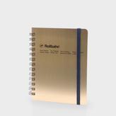 Paul Smith Delfonics - Medium Metallic Gold Rollbahn Notebook