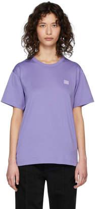 Acne Studios Purple Nash Face T-Shirt