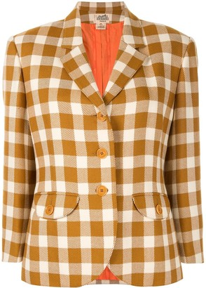 Hermes Pre-Owned Checked Jacket