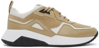 HUGO Beige and White Atom Sneakers
