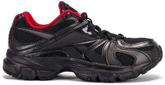 Vetements Spike Runner 200 Sneakers in Black & Red | FWRD