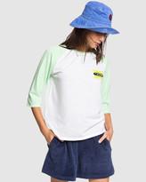 Quiksilver Womens Originals 3/4 Sleeve T-Shirt