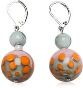 Antica Murrina Veneziana Papaya 1 Orange and Multicolor Murano Glass Earrings