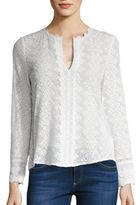 Rebecca Taylor Florence Embroidered Silk Top