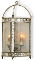 The Well Appointed House Antique Mirror and Silver Leaf Wall Sconce