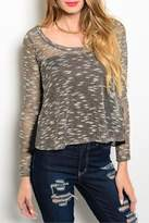 Adore Clothes & More Gold Black Sweater