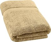 Ringspun Utopia Towels Soft Cotton Machine Washable Extra Large (35-Inch-by-70-Inch) Bath Towel, Champagne