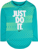 Nike Long-Sleeve Geo Tee - Preschool Girls 4-6x