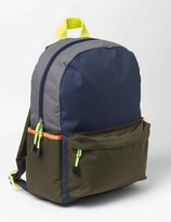 Colourblock Rucksack Navy/Khaki Boys Boden