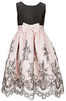 Jayne Copeland Little Girls 2T-6X Floral-Embroidered Bow-Sash Dress