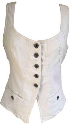 Plein Sud Jeans White Cotton Top for Women