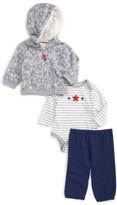 Little Me Infant Boy's Star Hoodie, Bodysuit & Pants Set