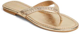 Jack Rogers Metallic Collins Flip Flop Sandals