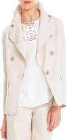 Max Studio Cotton And Linen Doubleweave Jacket