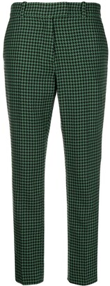 Racil Houndstooth-Check Tailored Trousers