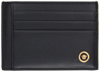 Versace Black Medusa Flap Card Holder