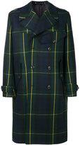 Paul Smith tartan double-breasted coat