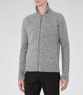 Reiss Reiss Bear - Mottled Weave Jacket In Grey