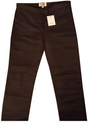 Rue Du Mail Black Silk Trousers for Women