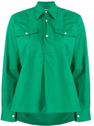 Plan C Plain Long Sleeve Shirt