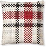 Plaid Woven Hide Pillow Cover