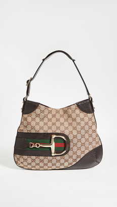Shopbop Archive Gucci Canvas Hobo Bag