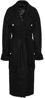 Mother of Pearl Faux Pearl-embellished Wool And Cashmere-blend Felt Coat