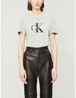 Calvin Klein Logo-print stretch-cotton T-shirt