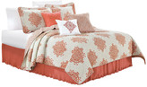Serenta Chelsea Printed Quilted 6-Piece Bed Spread Set, Coral, King