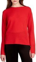 Halston Cowl Back Cashmere Sweater