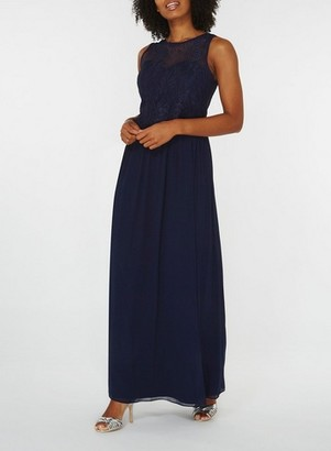 Dorothy Perkins Womens Showcase Navy 'Grace' Maxi Dress