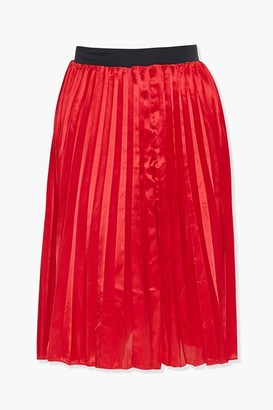 Forever 21 Plus Size Satin Pleated Skirt