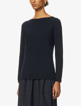S Max Mara Scoop-neck cashmere jumper